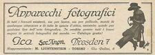 W0901 Apparecchi fotografici ICA - Pubblicità 1925 - Advertising