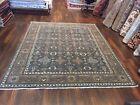 "Unique Genuine Hand Knotted Oushak Heriz Geometric Area Rug Carpet 8'x9'11"",47"