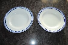 2 PLATS EN PORCELAINE DE TOURNAI DECOR AU GLAND 19°. DIAMETRE 29 cm