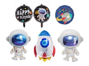 Space Astronaut/Rocket Happy Birthday Foil Balloons
