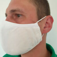 1 5 10 Reusable Mask Face Protection Washable Three-layer 100% Cotton Lot BN