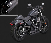 VANCE & HINES SHORTSHOTS STAGGERED BLACK EXHAUST FOR Harley Davidson Sportster
