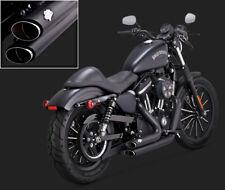 Vance & Hines Shortshots Abgestuft Schwarz Auspuff für Harley Davidson Sportster