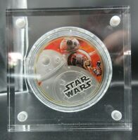 2016 STAR WARS BB-8 1oz Silver Proof Disney Coin - Toned NO Box or Cert