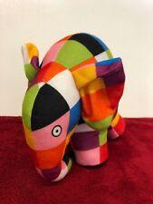 Elmer el elefante Patchwork Suave Juguete 18cm
