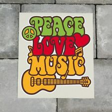 Colourful Peace Love Music Symbol CND Vinyl Sticker Decal Car Van Bike - SKU6580