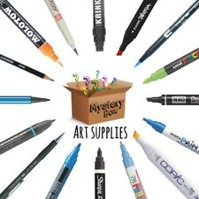 1 Box Of Art Supplies Mystery Markers-pens-drawing Kit And More...