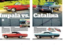 1963 IMPALA SS 409/340-HP & CATALINA 421/370-HP  -  GREAT 5-PAGE ARTICLE / AD