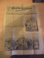 OLD VINTAGE ORIG german NEWSPAPER 1940S NARRISCHE RUNDSCHAU 21 feb 1950