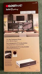 """NEW in Box - CLOSETMAID Suite Symphony #78886 DRAWER 25""""x5"""" Brownt Espresso"""