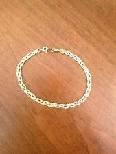 Vintage 1/20 GF 14kt Yellow Gold Braided Chain Bracelet