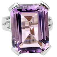Natural Amethyst - Africa 925 Sterling Silver Ring Jewelry s.10 SDR75517