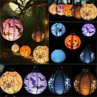 Halloween Pumpkin Props Bat Paper LED Lamp Hanging Party Home Decoration Outdoor