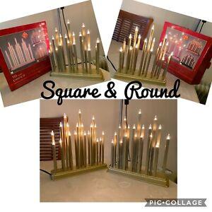 Christmas Pencil Candle Bridge 19 LED Ornament (2 sets available Round & Square)