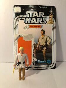 "Vintage 1977 Kenner Hong Kong Star Wars 3.75"" Luke Skywalker & Cardback"