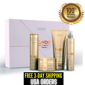 Cadiveu Kit Blonde Reconstructor Home Care Hair Treatment 3 Days Delivery