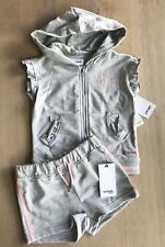 *NEW* Hudson Jeans Kids Girl's Rise And Play Shorts and Shirt 2 Piece Set, Sz 4T