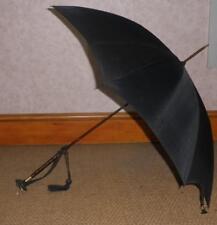 Antique Gold Plate Black Canopy Umbrella By Paragon & Fox