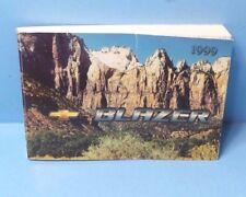 99 1999 Chevrolet Blazer owners manual