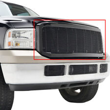 2005-2007 Ford F-250 Billet Grille Black Aluminum Replacement Front Grill