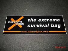 1 AUTHENTIC BLIZZARD PACK SURVIVAL BAG STICKER / DECAL / AUFKLEBER