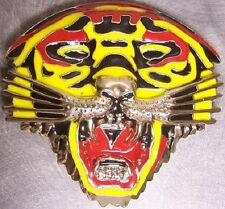 Metal Belt Buckle Animal Wild Colorful Tiger's Face NEW