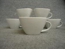 Pack of 12 Porcelain Cafe Bistro White Square Mocca Espresso Cups 19cl #12L113A
