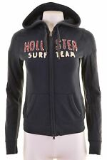HOLLISTER Womens Hoodie Sweater Size 10 Small Navy Blue Cotton  GX01