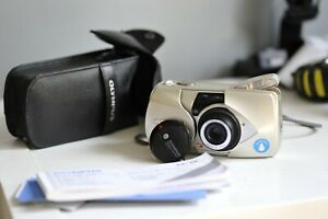 Olympus mju:-II ZOOM 115 35mm camera with RC-100 Remote Control !!FILM TESTED!!!