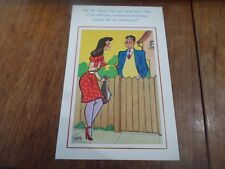 Risque Vintage Postcard Retro WILD OATS SOWING Humour §A72