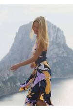 SEAFOLLY CUT COPY WRAP FRONT COVER UP HOLIDAY BEACHWEAR DRESS BNWT UK 10 RRP£108