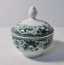 Winterling Bavaria SUGAR BOWL w/LID White China w/Green Floral Pattern MINT