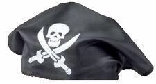 pirate hat headscarf bandana skull cross bones black