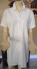 MARNI Ivory Cotton & Silk Shirt Dress Size 44