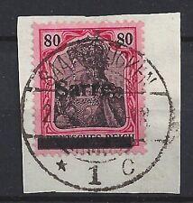 520# Sarre Mi 16 I PF M (gebrochenes S) auf Briefstk. gepr. A. Burger BPP