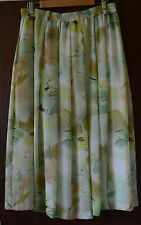 Jacques Vert fully lined light green floral skirt size 16