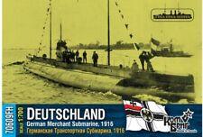 COMBRIG MODELS 70609FH GERMAN MERCHANT SUBMARINE DEUTSCHLAND MODEL KIT 1/700