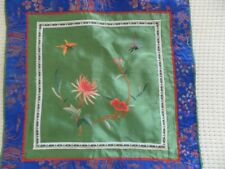 Chinese Peking 100%Hand embroidered flower&butterfly Embroidery pillow cover