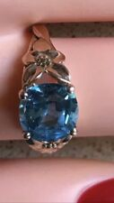 2.02ct Blue Topaz  Natural with 18K Gold Ring Ring 5g - Sz 5.5 RP flower