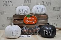 "Rae Dunn Pumpkin Decor Ceramic Mini 5"",Medium 8"" Halloween Fall ""YOU CHOOSE"" '20"