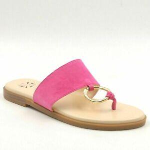 Isaac Mizrahi Women Thong Sandals Jasmine Size US 7.5M Bijou Pink Suede