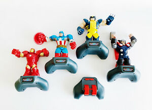 Battle Masters Super Hero Slam Toy Lot - RARE! Iron Man Wolverine Captain Thor