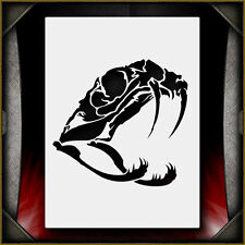 Snake Skull 2 -  Airbrush Stencil Template Airsick
