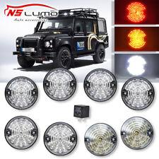 Land Rover Defender 90 / 110 Clear Led Upgrade Lamp Kit 73 mm Led Style Light