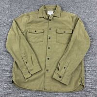 Goodfellow & Co Men's Medium Thick Button Up Long Sleeve Flannel Shirt Green
