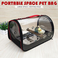 Portable Pet Parrot Bird Carry Backpack Breathable Cage Travel Mesh Bag Outdoor