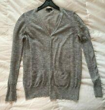 authentic women's J. Crew gray linen cardigan sweater, size M