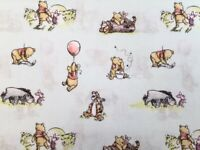 Winnie the Pooh and Friends on mint green 100% Cotton Fat Quarter, Half or Wh...