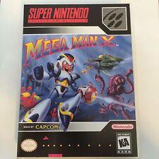 Mega Man X - Super Nintendo - Replacement Case - No Game