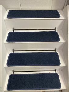 14  CARPET STAIR TREADS, BLEACH CLEANABLE, 70cm X 20cm HARDWEARING - EXTRA LARGE